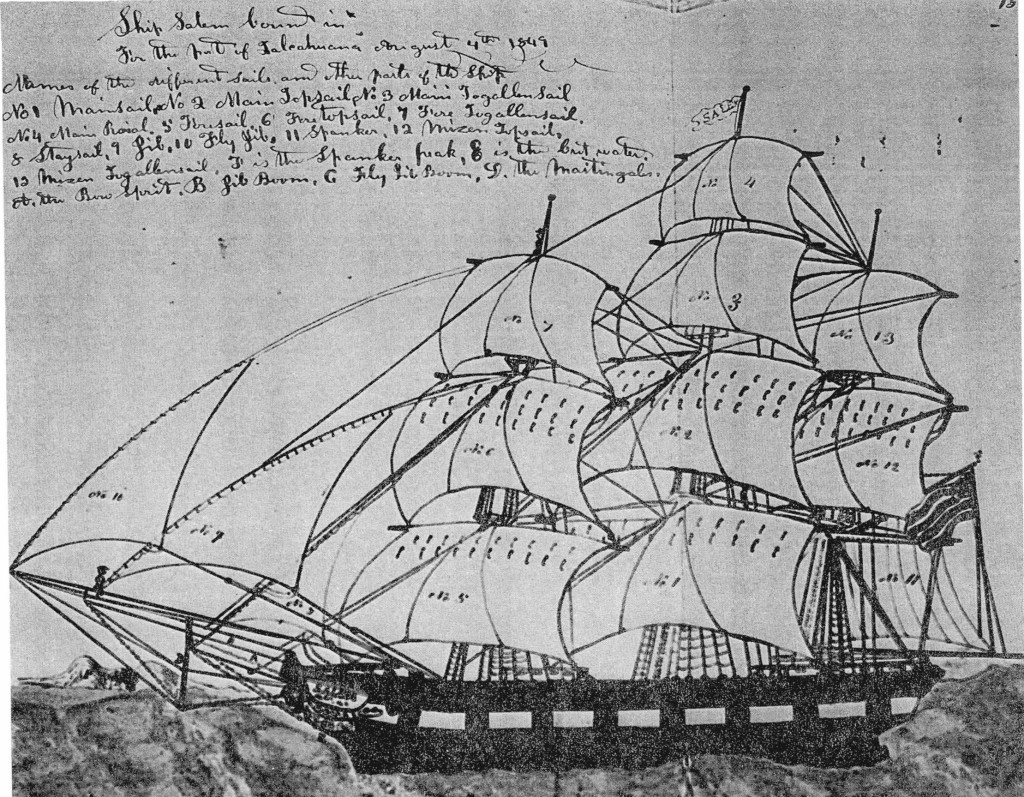 Ship Salem Sketched by I. S. Halsey
