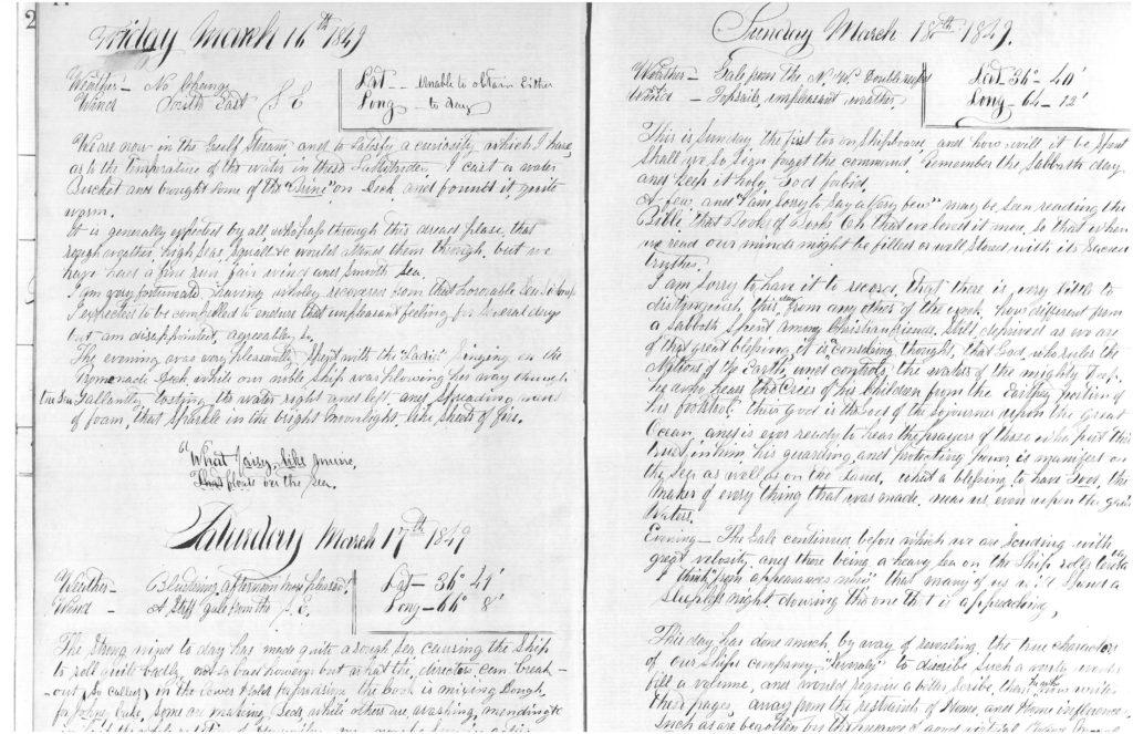 Isaac Diary 3-16-1849